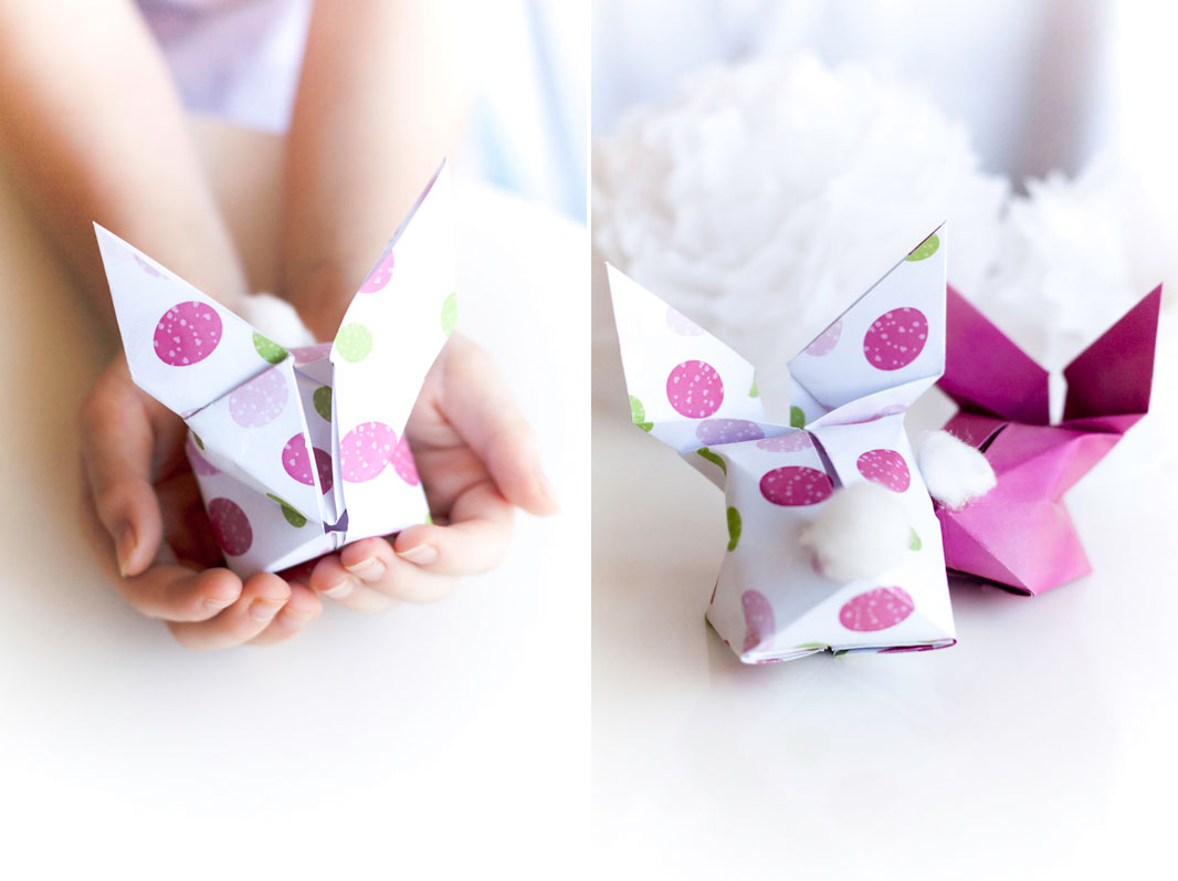 Easter gift ideas sweet style to make your own origami bunny you can view a great video tutorial at here negle Images