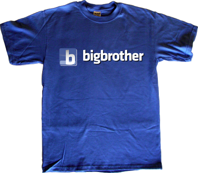 facebook social network internet 2.0 big brother george orwell t-shirt ephemeral-t-shirts
