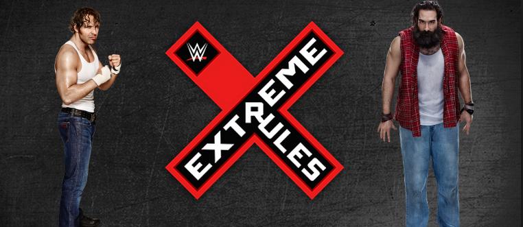 combate de reglas extremas entre luke harper vs Dean Ambrose