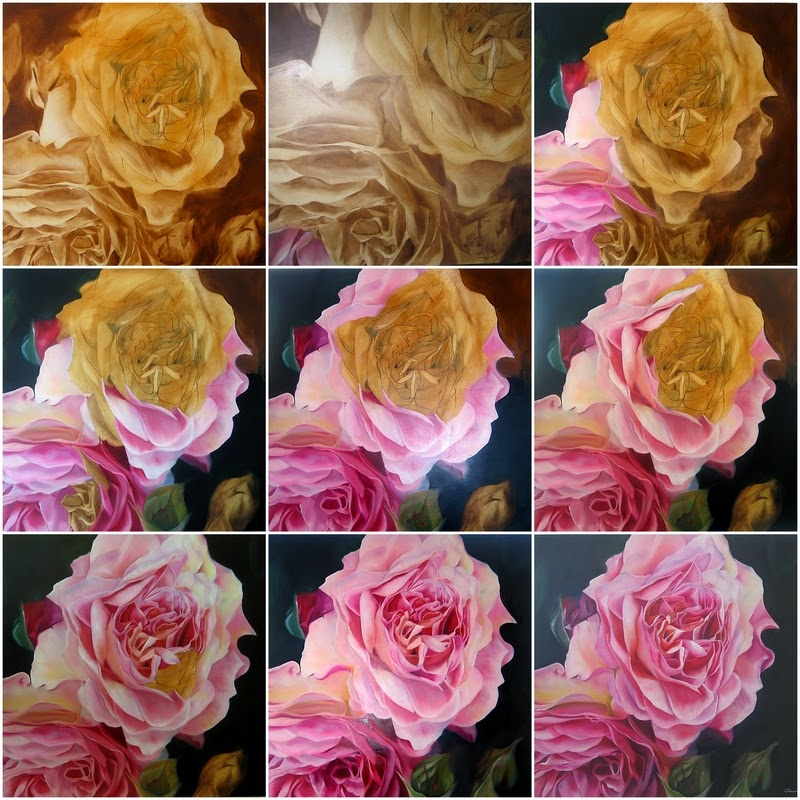 Lee caroline a world of inspiration rose paintings for How to paint a rose step by step