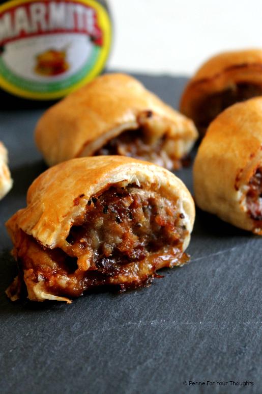 Cheesy Marmite Sausage Rolls