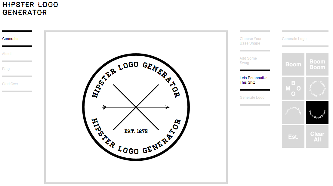 Me apetec a contarte hipster logo generator for Hipster logo generator