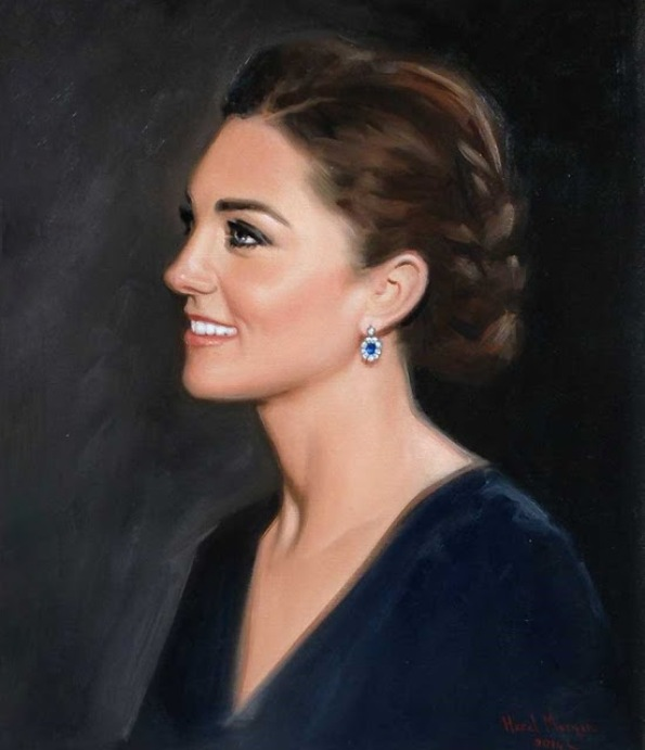 Portrait Of Catherine, The Duchess Of Cambridge By Hazel Morgan