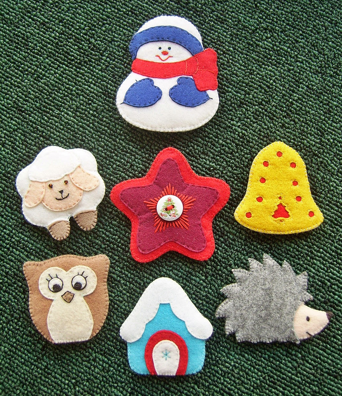 Набор развивающих игрушек из фетра для ковролинографа