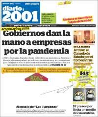 01/04/2020  PRIMERA PAGINA DIARIO DE VENEZUELA