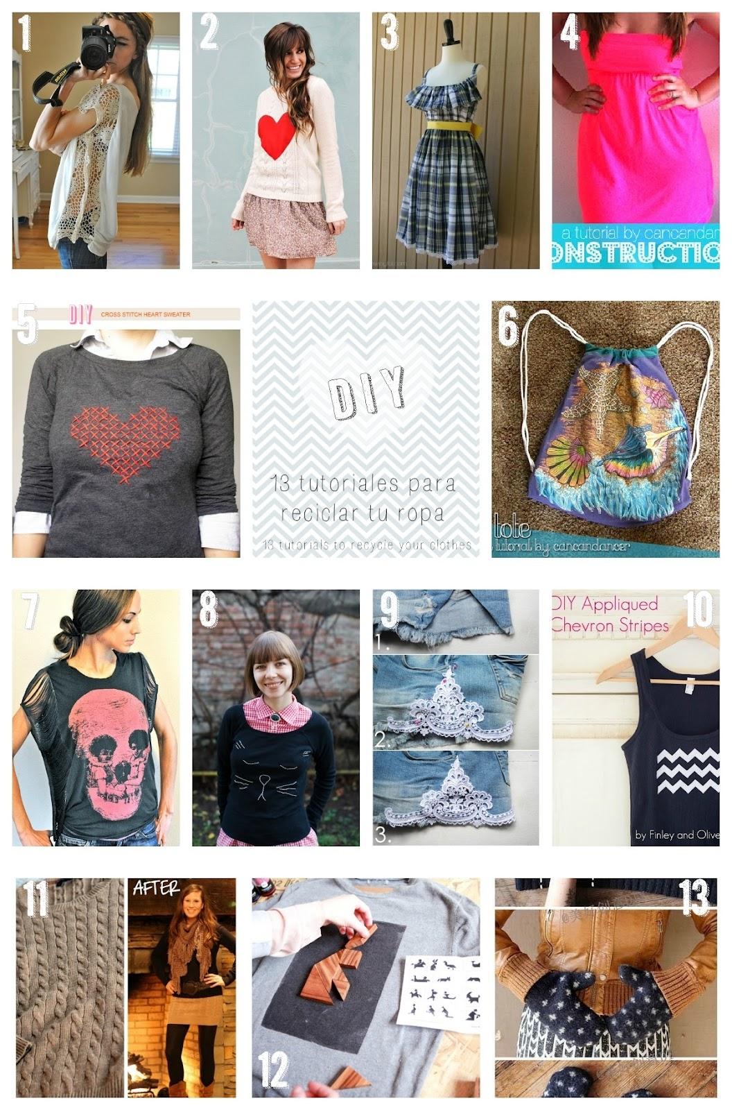 Las cosas de may diy manualidades 13 tutoriales para que - Reciclar ropa manualidades ...
