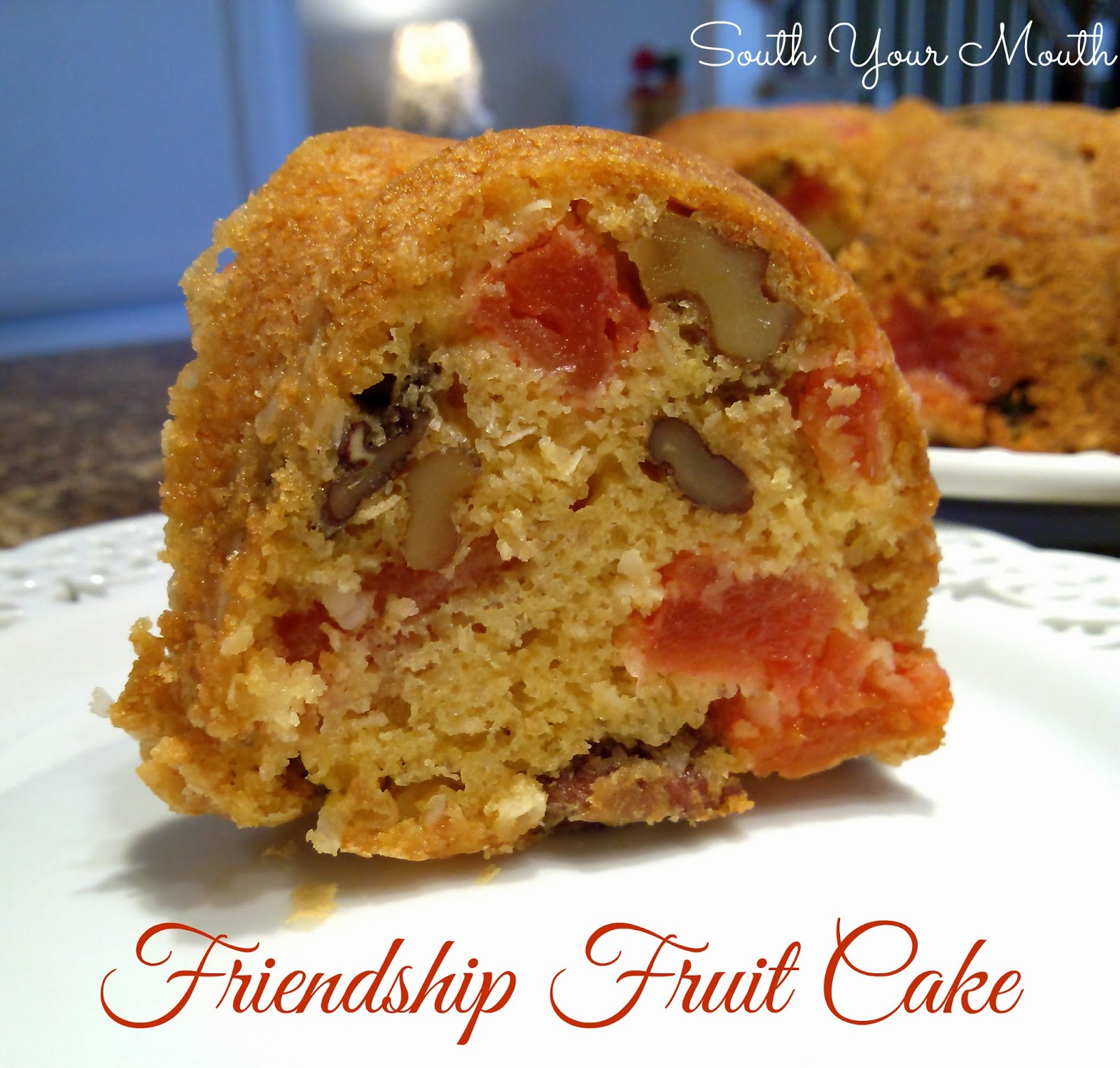 Fruit Cake With Caramelized Sugar