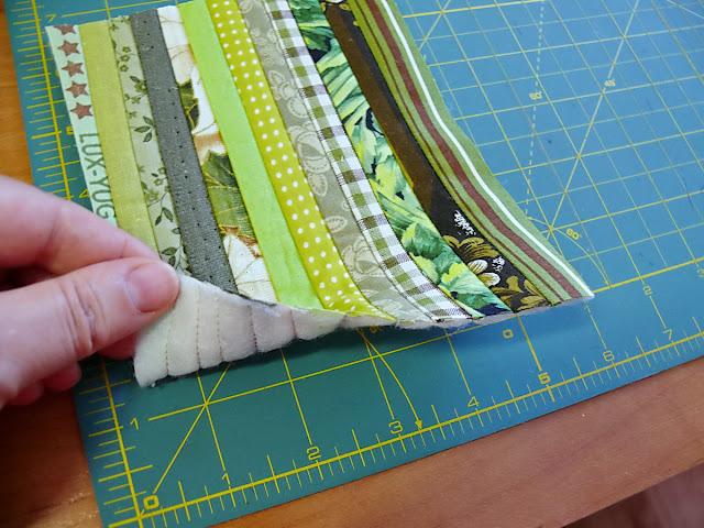 Как сделать полоски из ткани для 109
