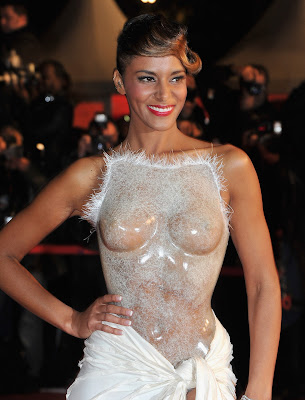 Shy'm In Breasts Revealing See-Through Corset At The NRJ Music Awards