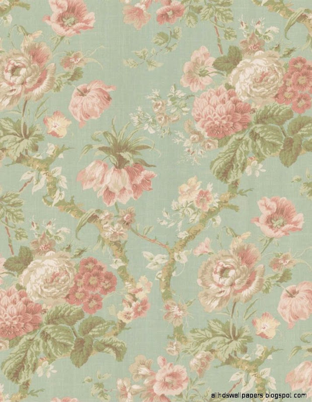 Vintage flowers background iphone