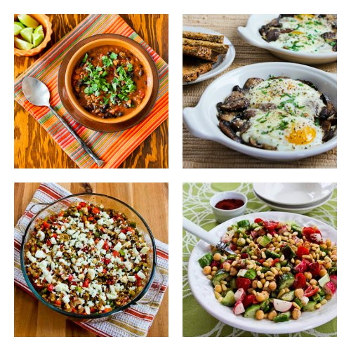 Collage of South Beach Diet friendly recipes