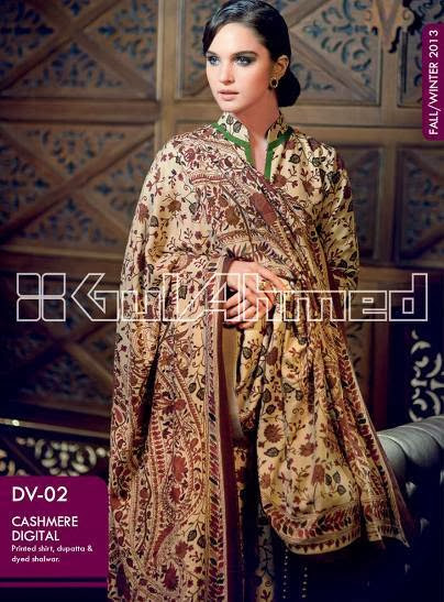 New Winter Dress 2013-14 For Women And Girls By Gul Ahmed