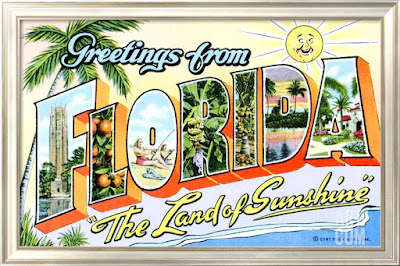 Greetings from Florida Retro Vintage Poster