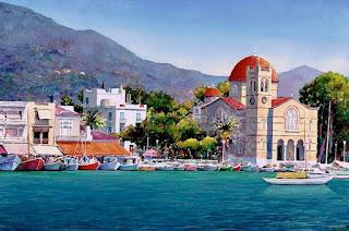 Acuarelas de Pueblos Griegos y Espanoles