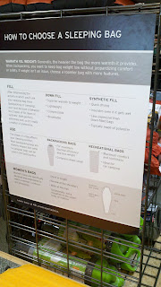 REI Makes Choosing Easy: Sleeping Bag In-store Signage