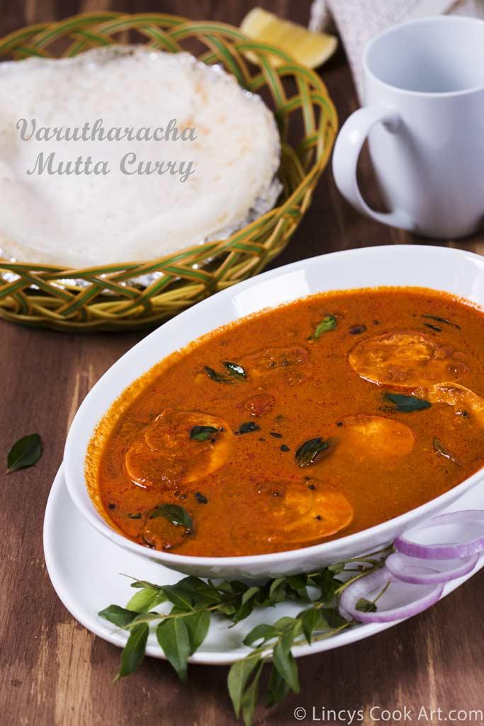 Varutharacha Mutta Curry Recipe