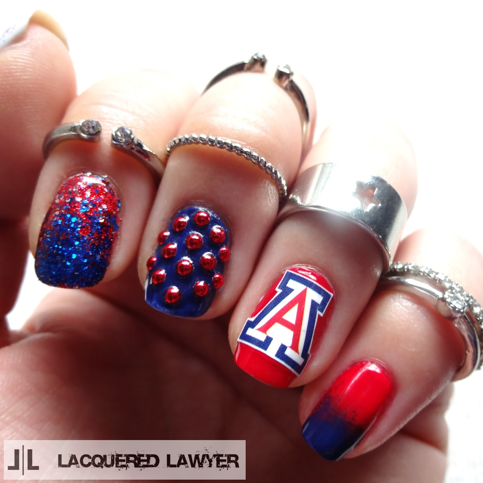 Arizona Wildcats Nail Art