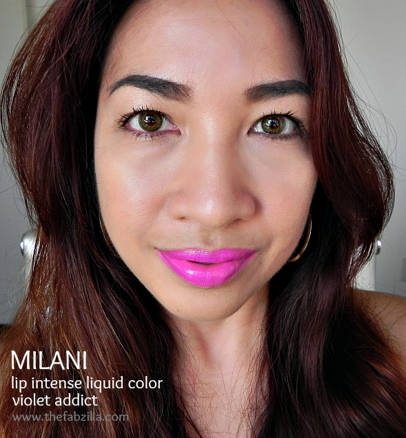 milani lip intense liquid color violet addict, review, swatch