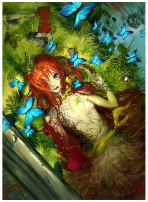Hector Sevilla deviantart ilustrações mulheres sensuais fantasia estilo anime mangá Borboletas