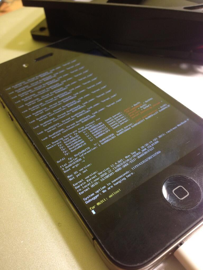 Jailbreak iOS 6 - Fonte/Reprodução: Twitter @winocm