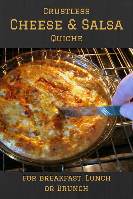 Crustless Cheese and Salsa Quiche Recipe for Breakfast, Lunch or Brunch