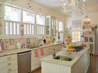 Decoracion vintage muy romántica de cocina   kitchen design luxury ...