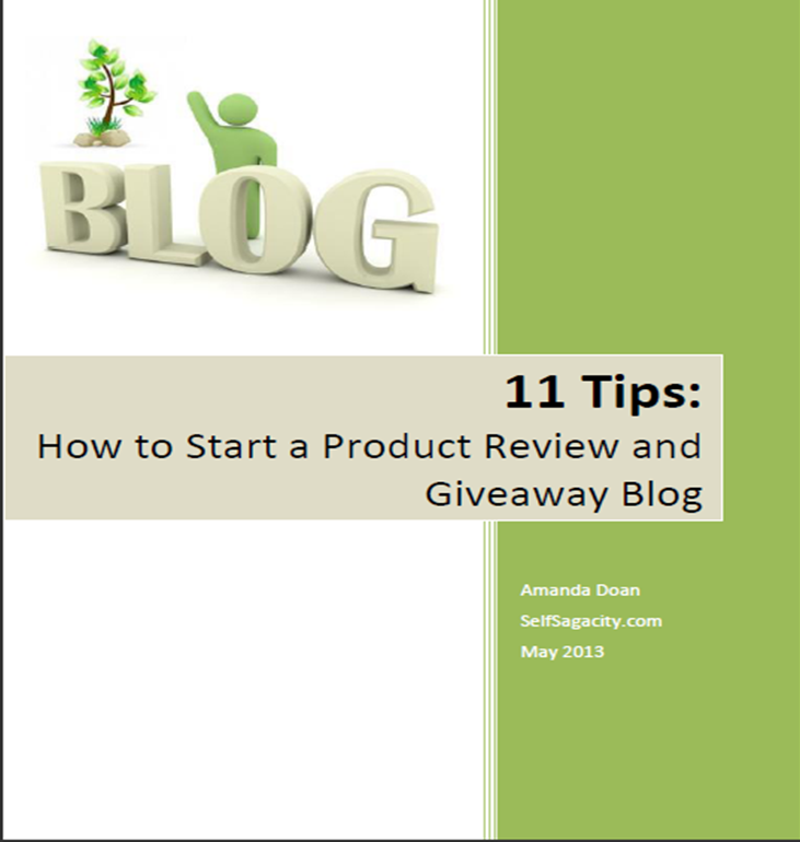 How to Start a Product Review and Giveaway Blog eBook image