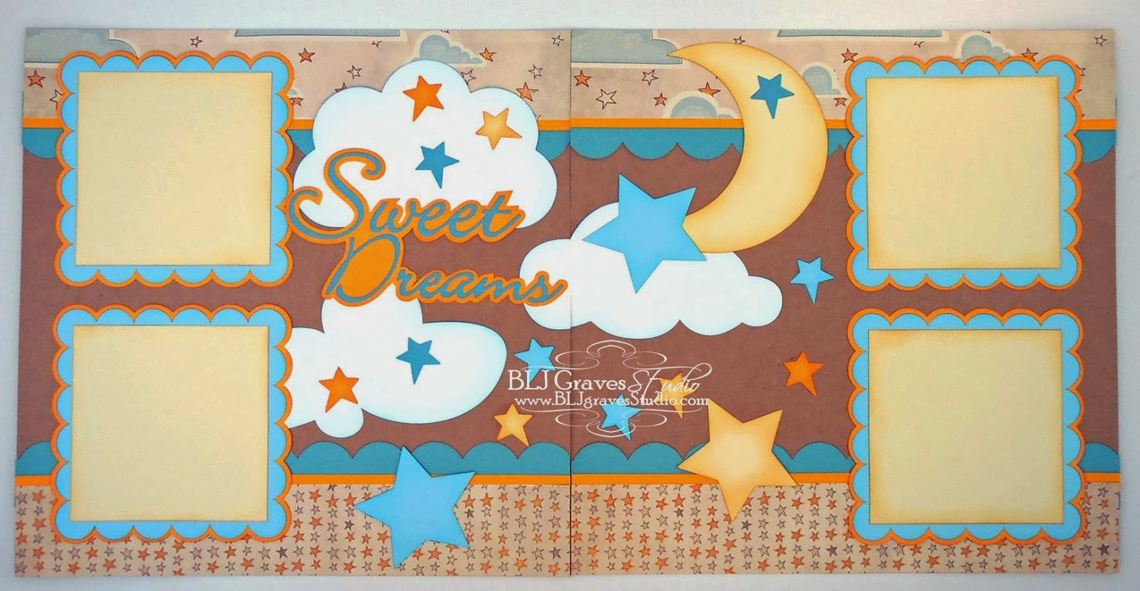 How to design scrapbook layouts - Sweet Dreams Baby Scrapbook Pages