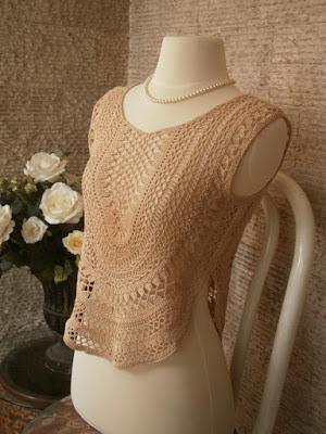 Crochet fashion top