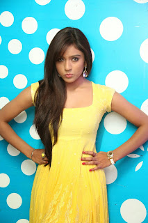 Vithika Shery in Yellow Gown cute pics