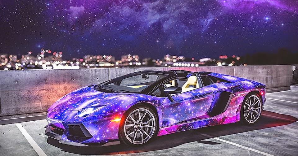 Seductive Luxury 2014 Galaxy Lamborghini Aventador Roadster