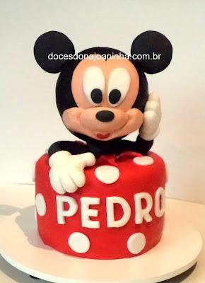 bolo decorado Mickey Minnie Pluto Margarida Disney Baby