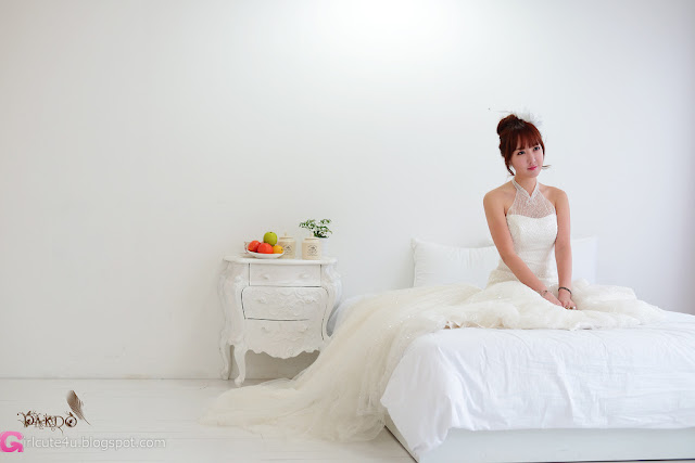 3 Yoon Seul in Wedding Dress-Very cute asian girl - girlcute4u.blogspot.com