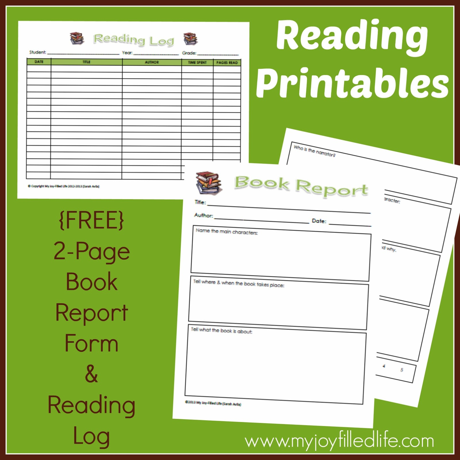 Modest image regarding book log printable