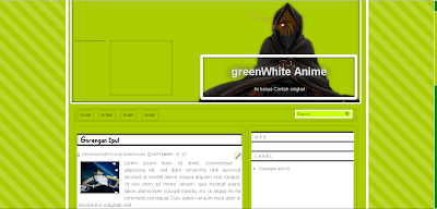 Free download Template Green White For Blog