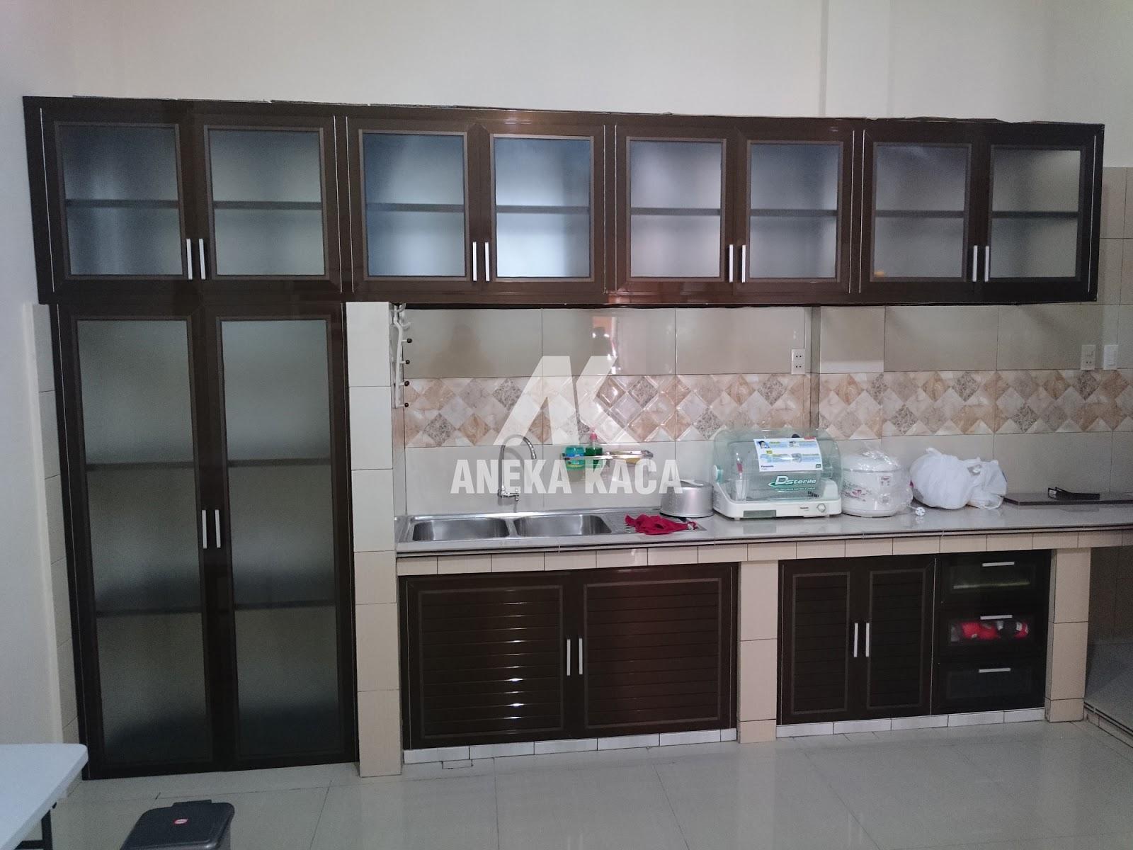 Toko aneka kaca kitchen set aluminium lemari piring for Lemari kitchen set aluminium