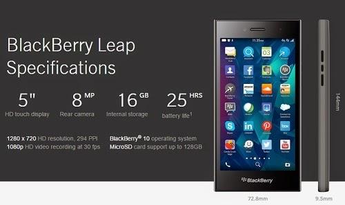 Harga BlackBerry Leap baru dan bekas