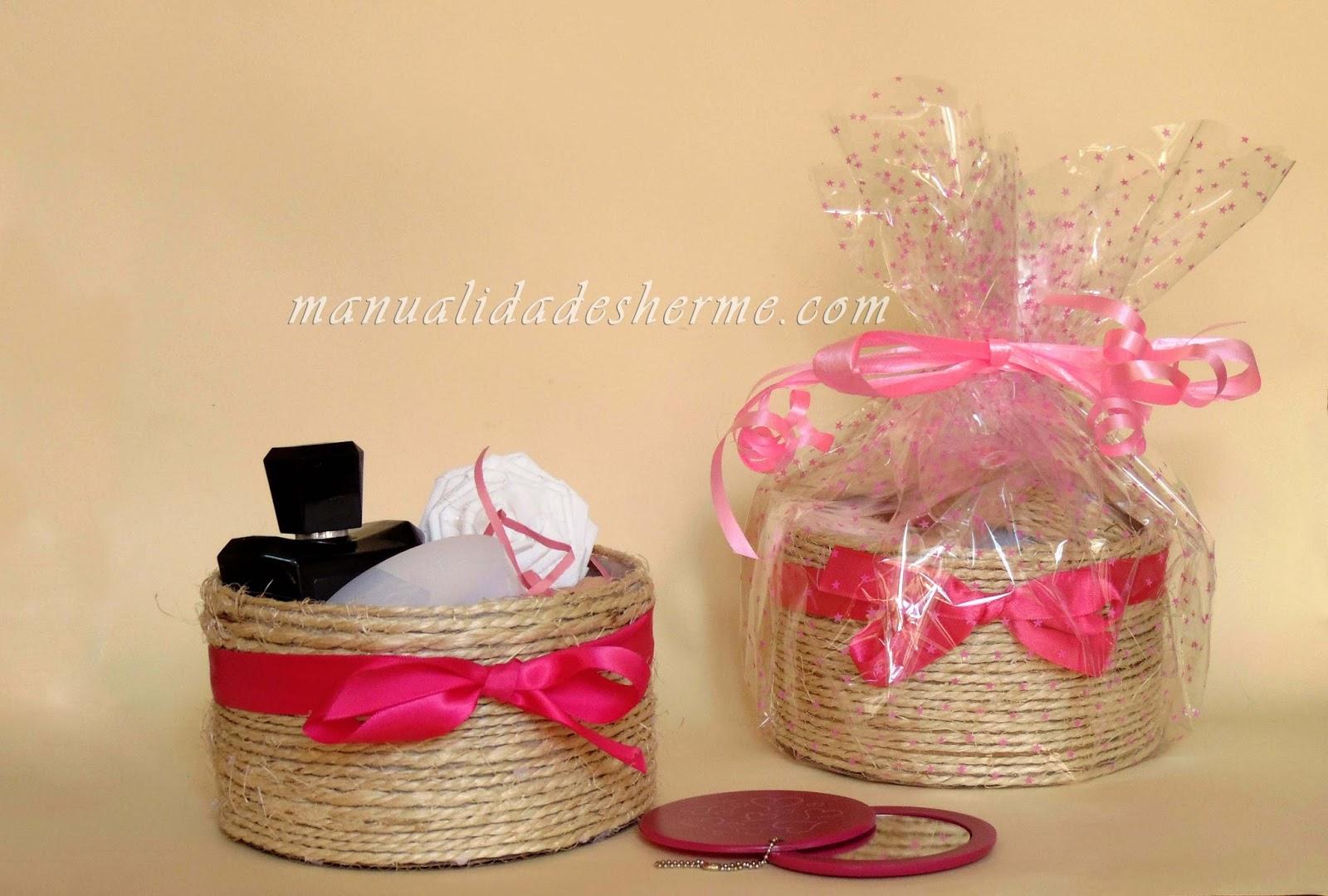 Manualidades herme hacer cajas de cart n o cestos f cilmente - Cajas de carton bonitas ...