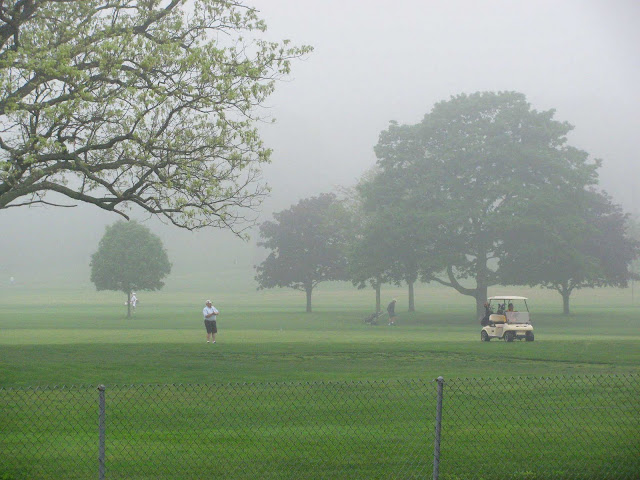 Golfing-in-Fog-at-Bethpage-Golf-Course