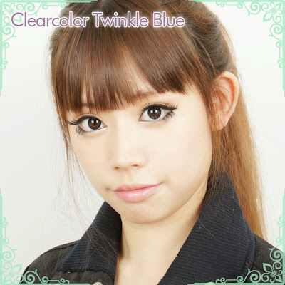 Clear Color Twinkle Blue Contact Lenses at ohmylens.com