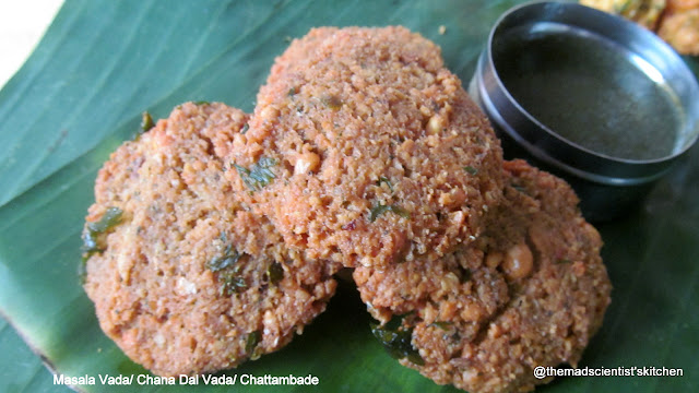 Masala Vada/ Chana Dal Vada/ Chattambade, snack