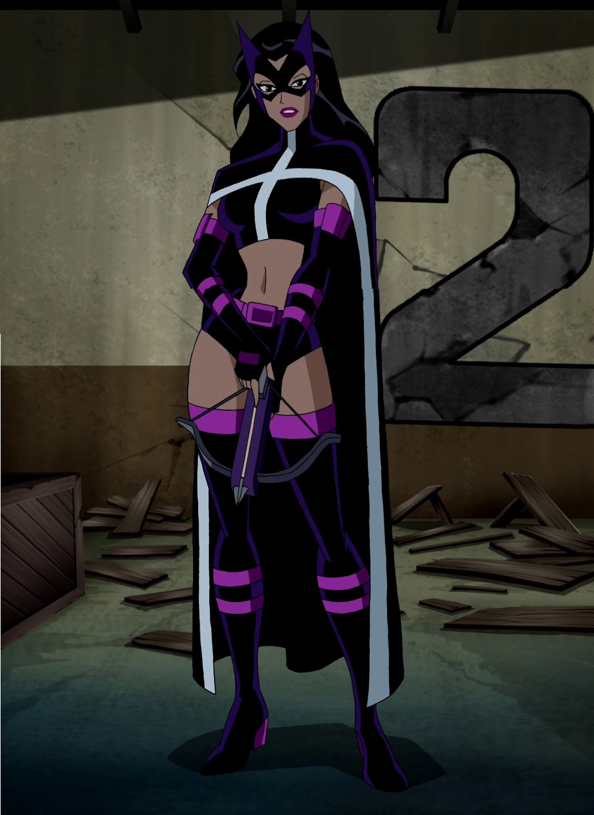 Canadian cave of coolness justice league unlimited the huntress