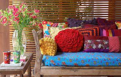 almofadas artesanais- croche- trico- patchwork