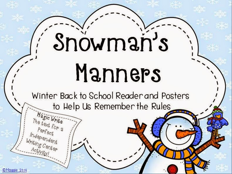 http://www.teacherspayteachers.com/Product/Snowmans-Manners-Writing-Activity-Booklet-and-Posters-1044681