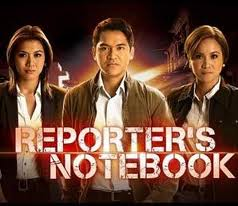 Reporter's Notebook is an investigative news magazine television show in the Philippines hosted by senior reporter Jiggy Manicad and broadcast journalist Rhea Santos. It is broadcast every Tuesday evening on...