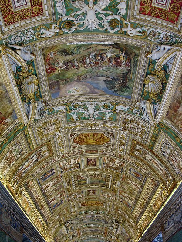 Détail d'un plafond aux musées du Vatican