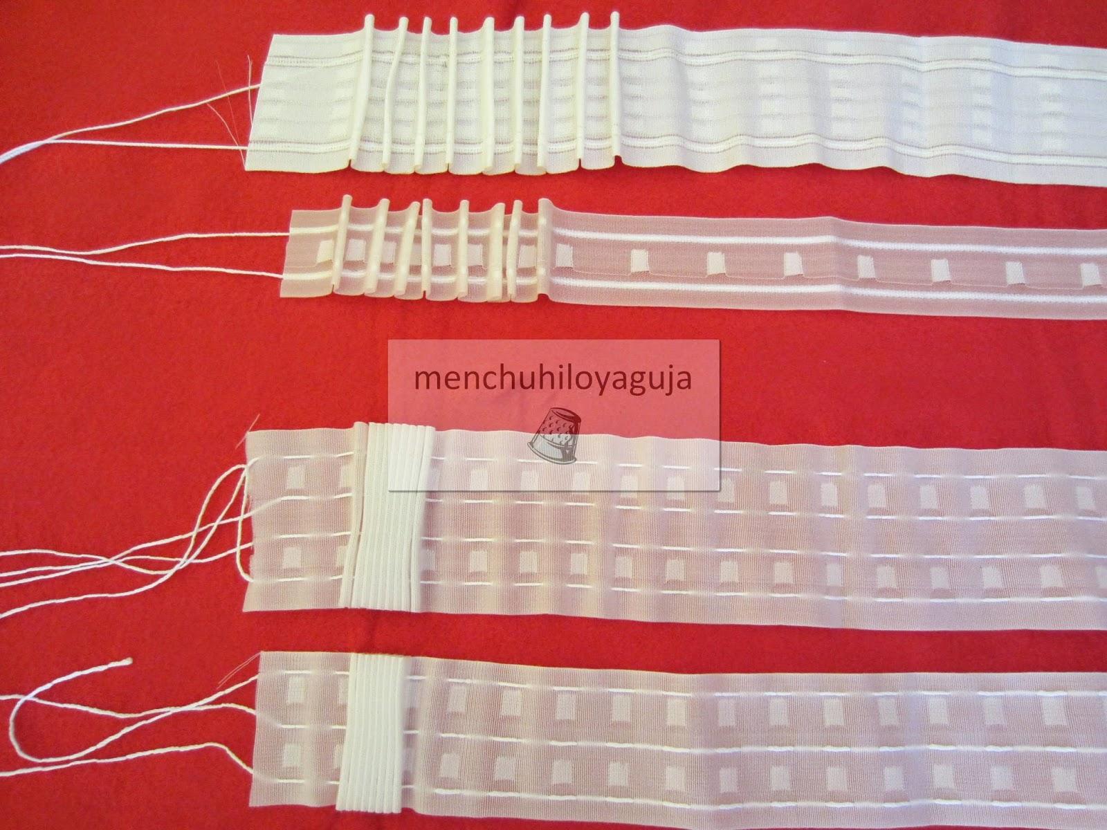 Patrones de costura cabecillas de cintas para cortinas - Cinta para cortinas ...
