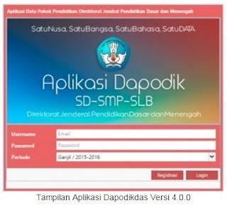 Resmi, Mendikbud Rilis Aplikasi Dapodikdas Versi Terbaru V.4.0.0