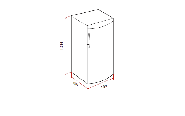 Desenho técnico do frigorifico Teka TGF3 270 NF Inox ou Branco: