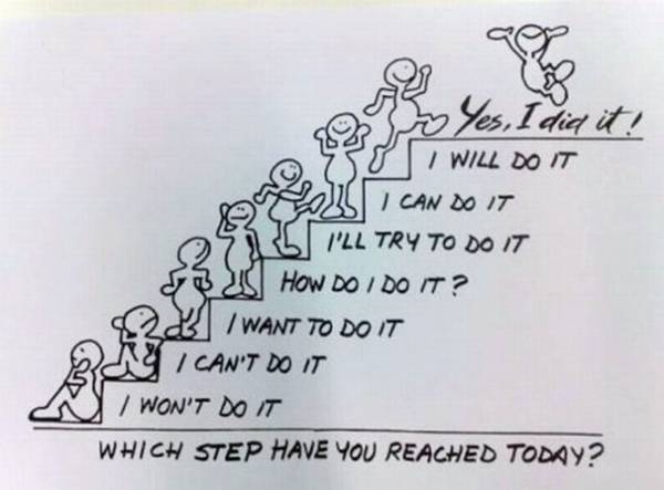 i won't do it | i can't do it | i want to do it | how do i do it | i'll try to do it | i can do it | i will do it | yes i did it | funny quotes | lesson quotes | totally cool pix | funny | message | Which Step have you Reached Today yes i did it | funny boy | funny step boy | Funny animal picture of the day 26-05-2012